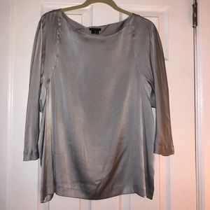 Silky grey Theory Blouse